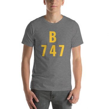 Boeing 747 Short-Sleeve Unisex T-Shirt