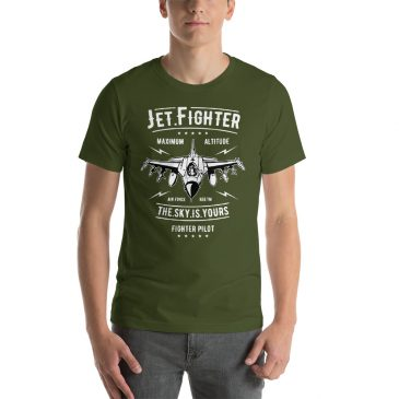 Jet Fighter Short-Sleeve Unisex T-Shirt