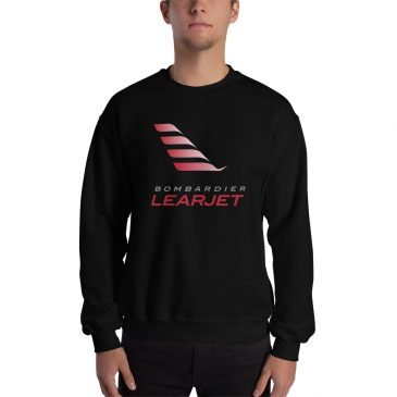 Learjet Unisex Heavy Blend Crewneck Sweatshirt