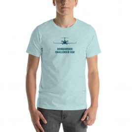 Bombardier Challenger 650 Short-Sleeve Unisex T-Shirt